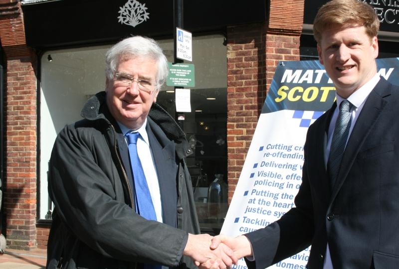 Michael Fallon Matthew Scott PCC election 2016