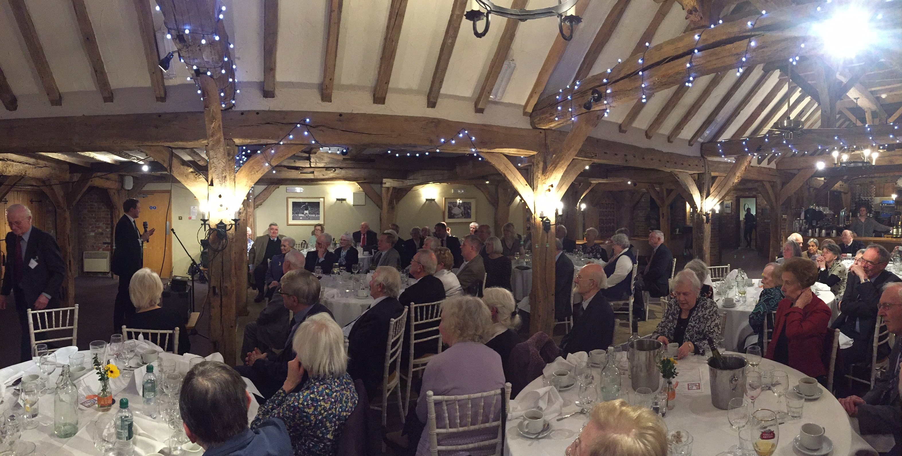 Tom Tugendhat speaking to the Supper Club