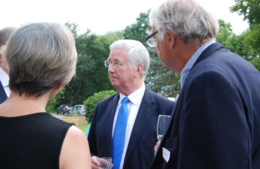 Sir Michael Fallon with the Management Team
