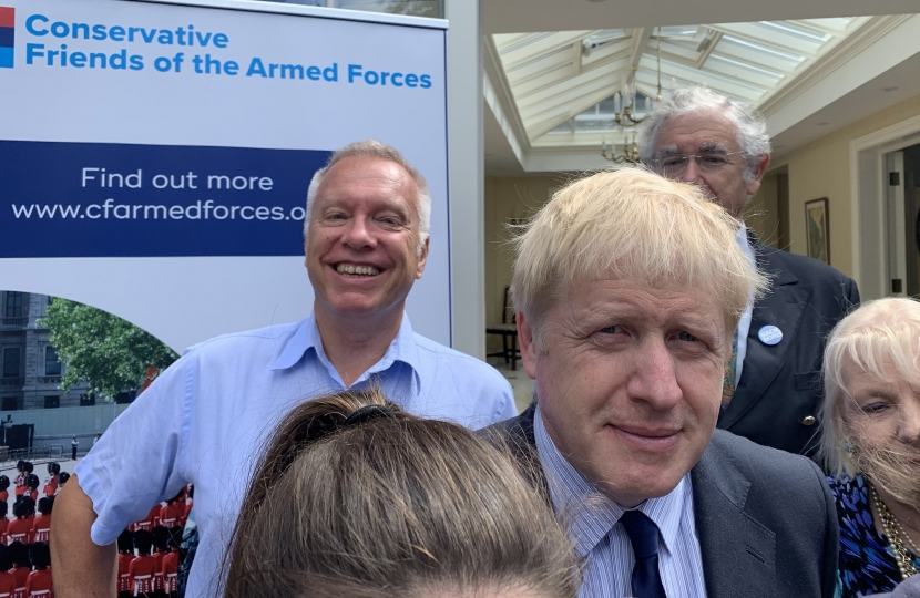 Graham photobombs Boris!